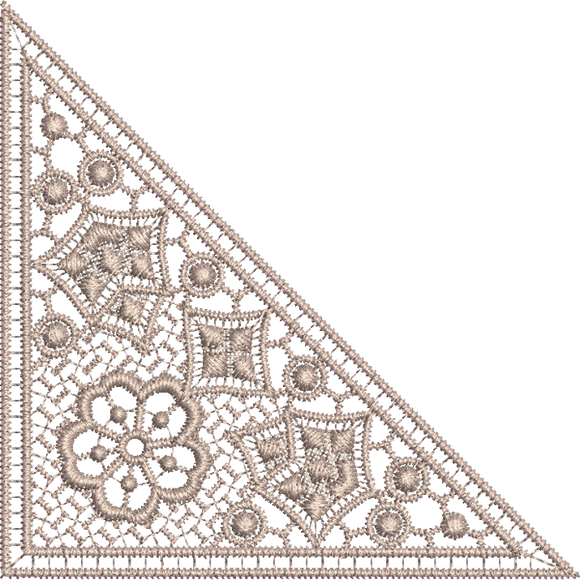 Lace - Old Lace Insert Embroidery Motif - 09 - Designer Lace - by Sue Box