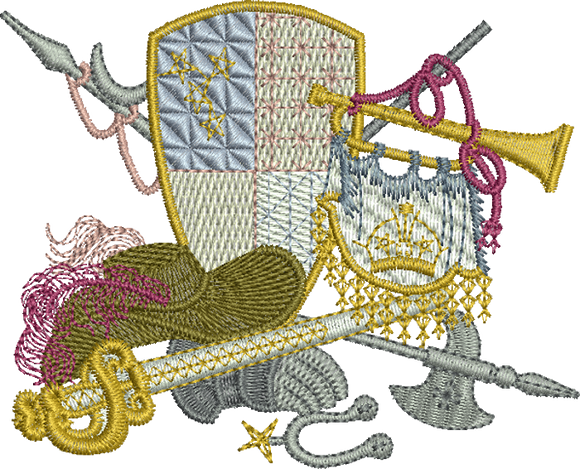 Royal Regalia Embroidery Motif - 09 -  A Romantic Era - by Sue Box