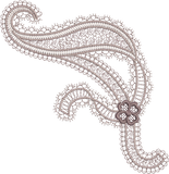 Ribbon Design Embroidery Motif - 09 -  Everlasting Embroidery - by Sue Box