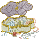 Sewing Box Embroidery Motif - 09 - Creative Little Homemakers by Sue Box