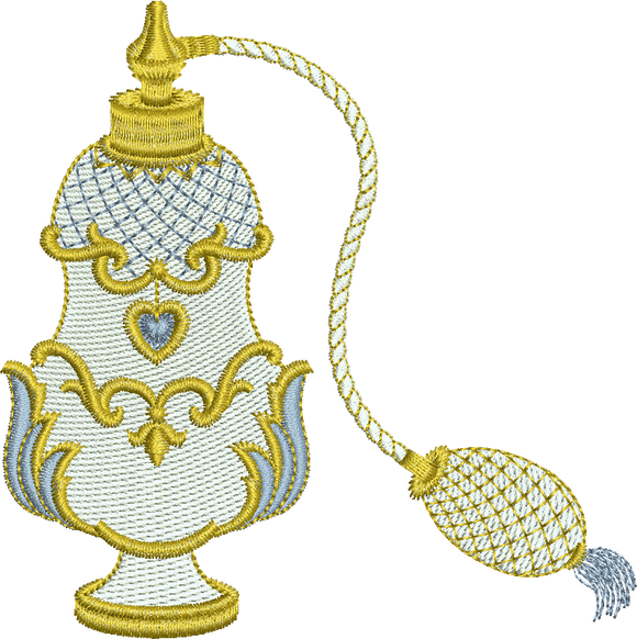 10 - Endearing Embroidery design by Sue Box - Perfume Spray