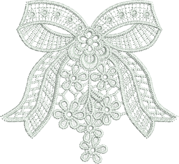Lace Adah Bow and Flowers Embroidery Motif - 10 - Just Lace - by Sue Box