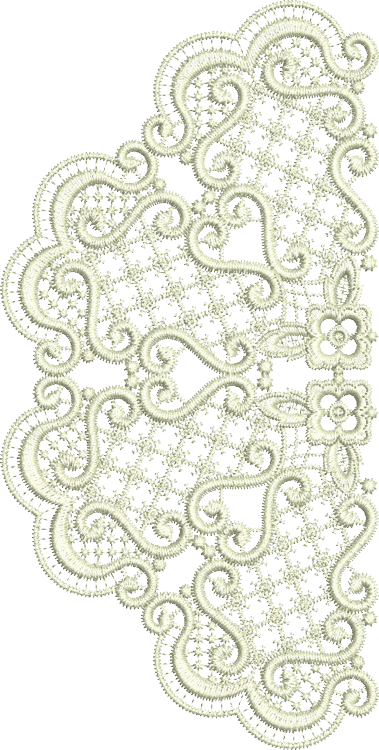 Lace - Exclusive Half Panel Embroidery Motif by Sue Box