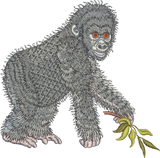 Gorilla - Ape Embroidery Motif - 10 - Zoo Babies by Sue Box