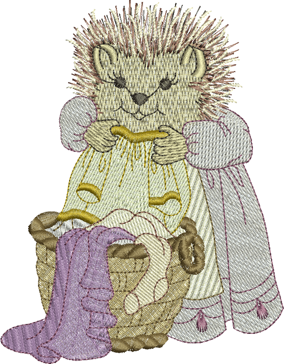 Hedgehog - Hattie Hedgehog Embroidery Motif - 10 -  Woodland Treasures - by Sue Box