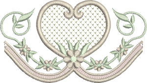 10 - Heart and Flower Border