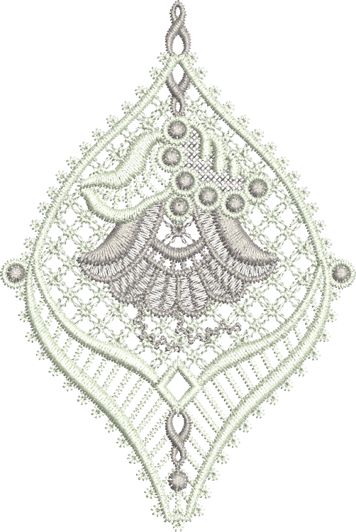 Lace Jewel Embroidery Motif 3 - 10 - Classic Lace - by Sue Box