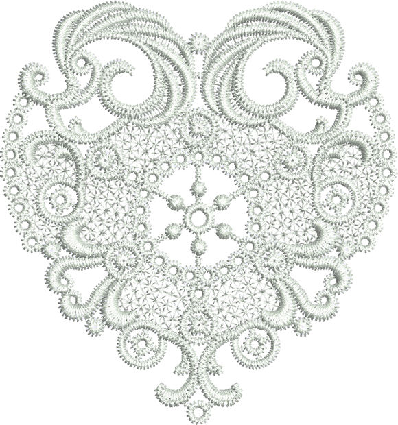 10 -  Specialty Lace by Sue Box - Lace Heart