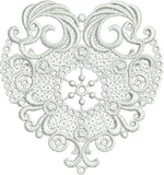 Lace Heart - FSL Embroidery Motif - 10 -  Specialty Lace by Sue Box