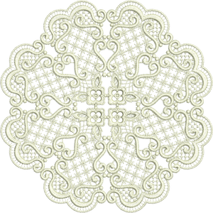 Lace - Exclusive Doily Embroidery Motif by Sue Box