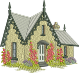Gables House Embroidery Motif - 11 -  Traditional Homes and Gardens - by Sue Box