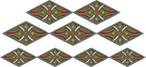 Geometric Borders Set Embroidery Motif - 11 - Sue Box Moroccan designs