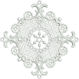 Lace Motif Insert - FSL Embroidery Motif - 11 -  Specialty Lace by Sue Box