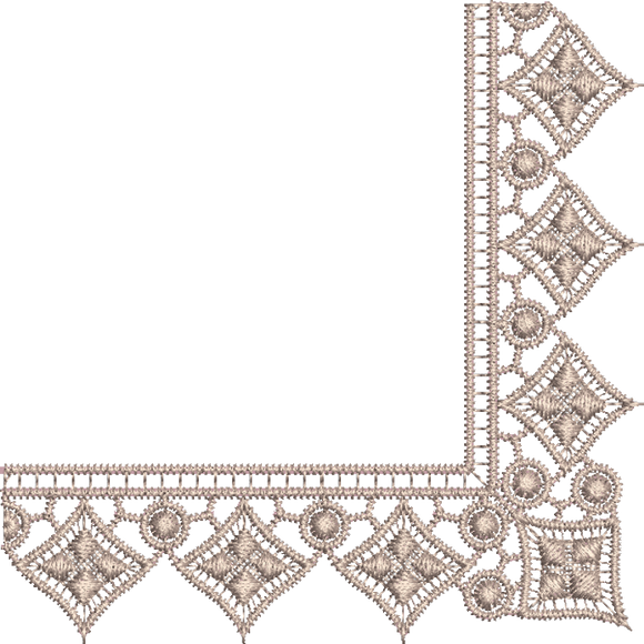 11 - Designer Lace - Old Lace Border Corner