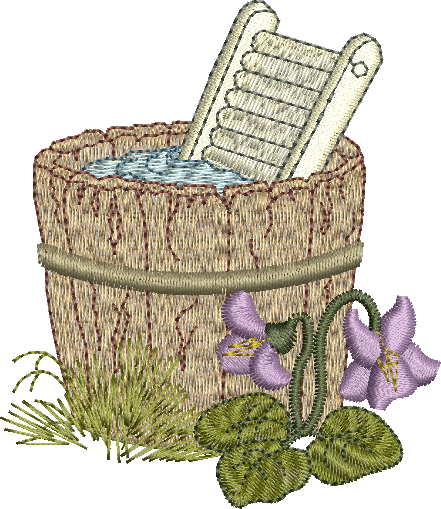 Wash Tub Embroidery Motif - 11 -  Woodland Treasures - by Sue Box