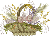 Wildflowers In Basket Embroidery Motif - 11 -  Floral Illusions - by Sue Box
