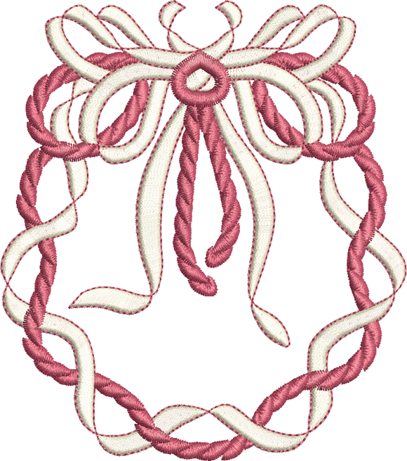 Bow Bouquet Embroidery Motif -12 - Golden Classic - by Sue Box