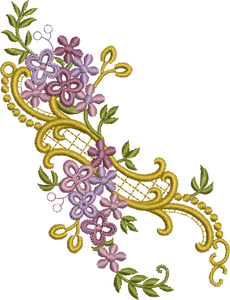 Floral Design Embroidery Motif - 12 -  Floral Illusions - by Sue Box