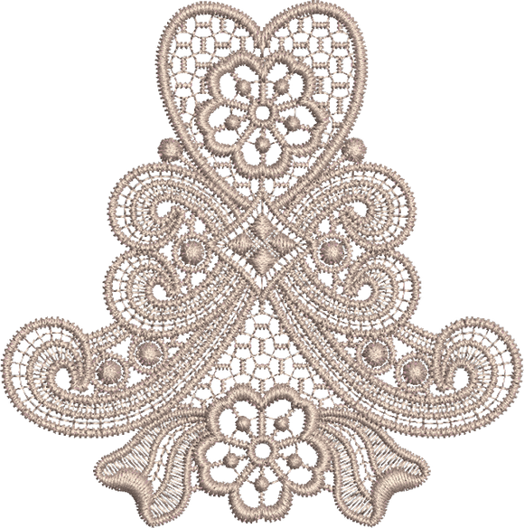 Lace - Old Lace Embroidery Motif - 12 - Designer Lace -  by Sue Box