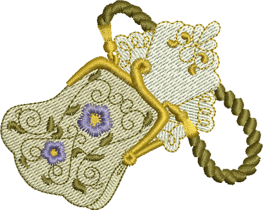 Teddy Bear Purse Embroidery Motif - 12 -  Timeless Teddy Bear Treasures - by Sue Box