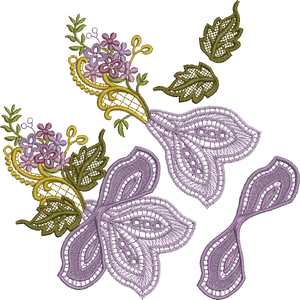 3D Flower Design 1 Embroidery Motif - 13 -  Floral Illusions - by Sue Box