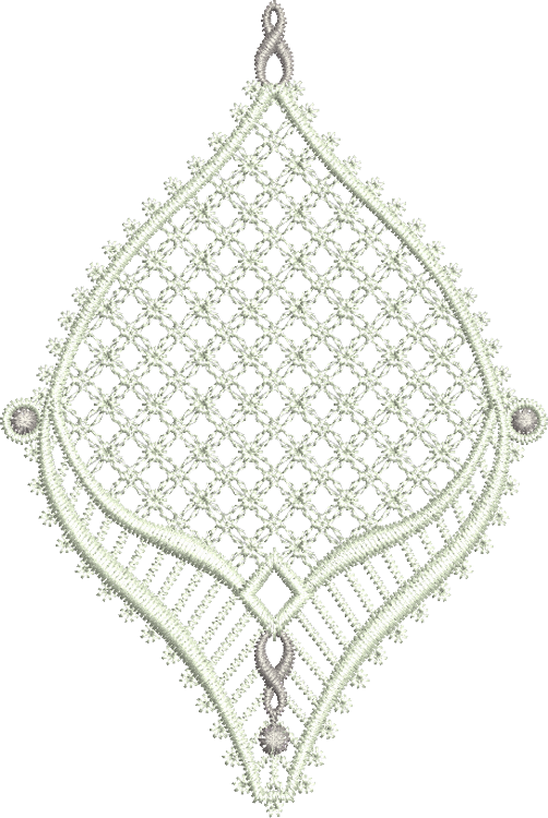 Lace Jewel Embroidery Motif 1 - 13 - Classic Lace - by Sue Box