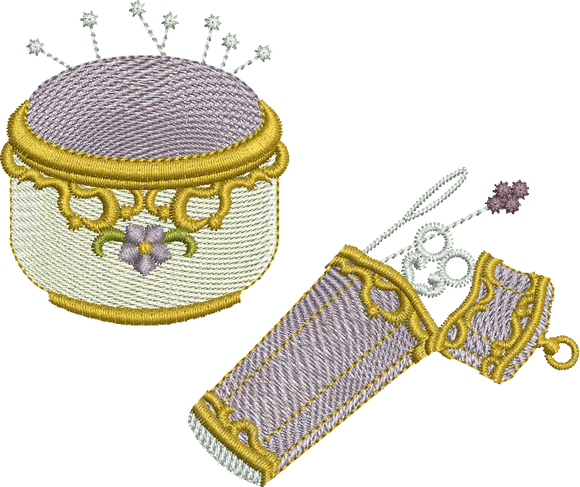 Pin Cushion and Etui Embroidery Motif - 13 - Creative Little Homemakers by Sue Box