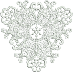Lace Small Doily - FSL Embroidery Motif - 13 -  Specialty Lace by Sue Box