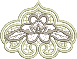 Cutwork Flower 1 Embroidery Motif - 14 -  Embroidery Inspirations - by Sue Box