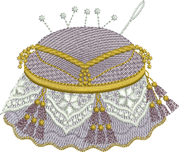 15 - Antique Pin Cushion