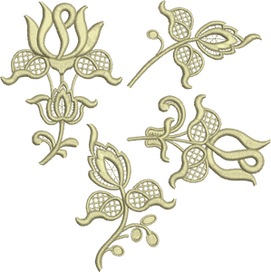 15 - Flr Applique 4 Design Set