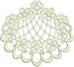 Lace Edge Embroidery Motif - 15 - Designer Lace - by Sue Box