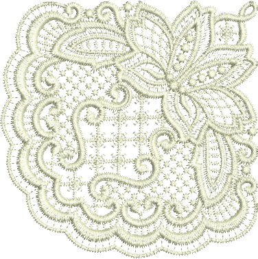 15 - Square Doily Quarter