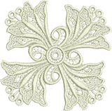 Lace Peridot Motif Embroidery Design - 16 - Just Lace - by Sue Box
