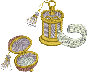Thimble and Antique Tape Embroidery Motif - 16 - Creative Little Homemakers by Sue Box