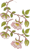 Rose Border 1 Double Design Embroidery Motif - 17 - Golden Classic - by Sue Box