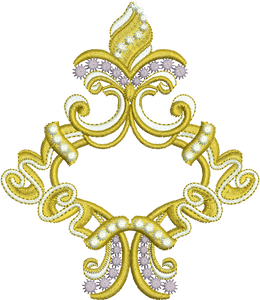 Gold Motif Embroidery Motif - 17 - Endearing Embroidery design by Sue Box