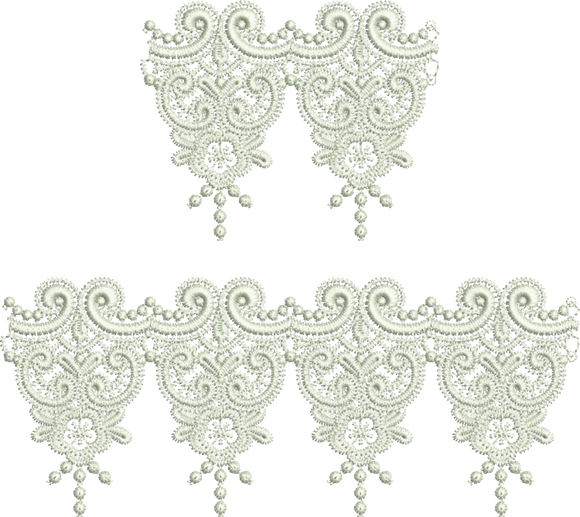 Lace Krystal Borders Embroidery Motif - 17 - Just Lace - by Sue Box
