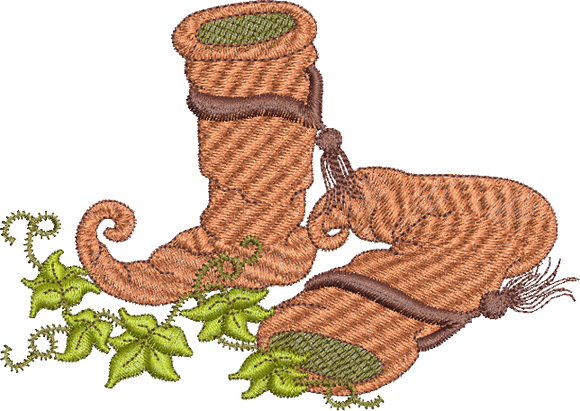 Fairy Boots Embroidery Motif - 18 - Enchanted Fairy Treasures - by Sue Box