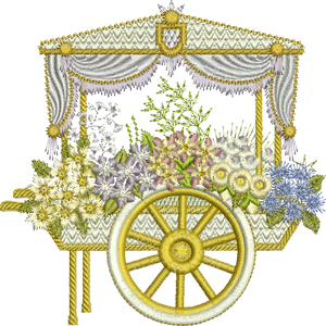 Flower Cart Embroidery Motif - 18 - Creative Floral Gardens by Sue Box