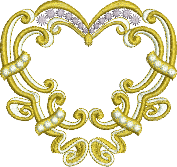 18 - Endearing Embroidery design by Sue Box - Gold Heart