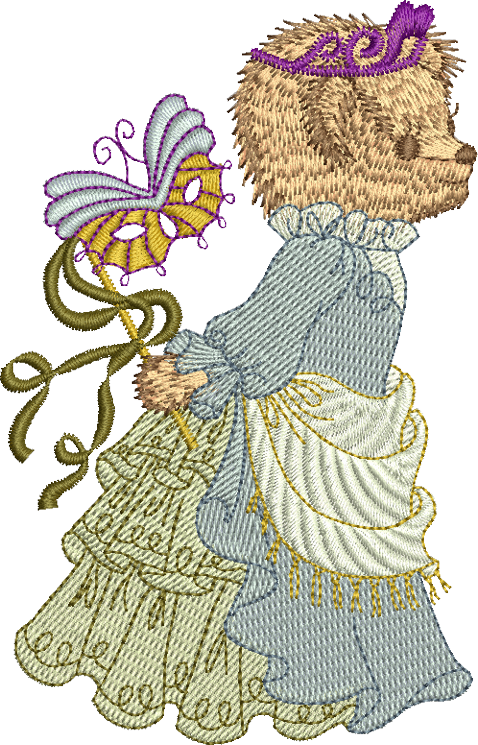 Teddy Bear Jemma Embroidery Motif - 18 -  Timeless Teddy Bear Treasures - by Sue Box