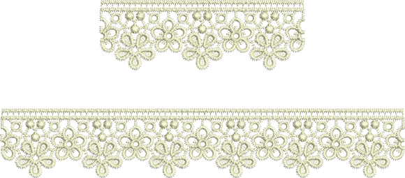 Lace Taj Borders Embroidery Motif - 18 - Classic Lace - by Sue Box