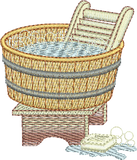 Wash Tub Embroidery Motif - 18 - Creative Little Homemakers by Sue Box