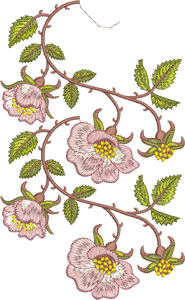Rose Border 2 Double Design Embroidery Motif - 19 - Golden Classic - by Sue Box