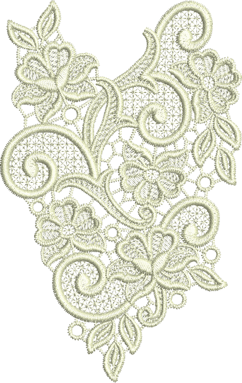 Lace Tama Embroidery Motif - 19 - Designer Lace - by Sue Box