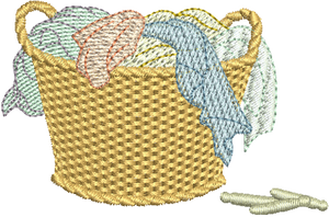 Wash Basket Embroidery Motif - 19 - Creative Little Homemakers by Sue Box