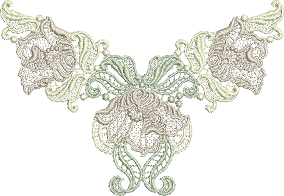 20 - Designer Lace - Antique Flower Design