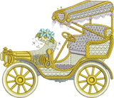 Car and Flowers Embroidery Motif - 20 - Creative Floral Gardens by Sue Box