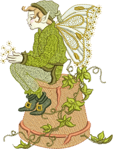 Fairy Flynn Embroidery Motif - 20 - Enchanted Fairy Treasures - by Sue Box